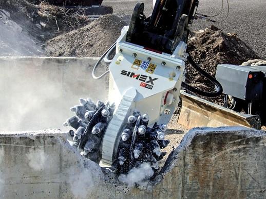 SIMEX ROTARY CUTTER. cutting concrete