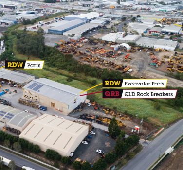 birdseye view of RDW locations