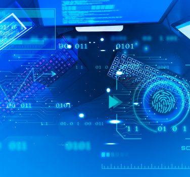 blue technology interface