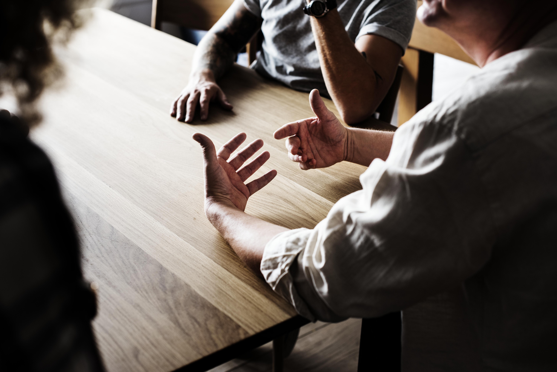 meeting with gesture