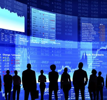 Business People at Stock Market Wall