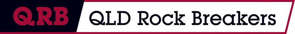 QLD rock breaker logo